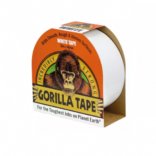 Gorilla 3044610 Tape White 48mm x 10m